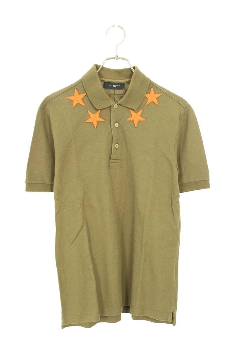 スターパッチ鹿の子半袖ポロシャツ