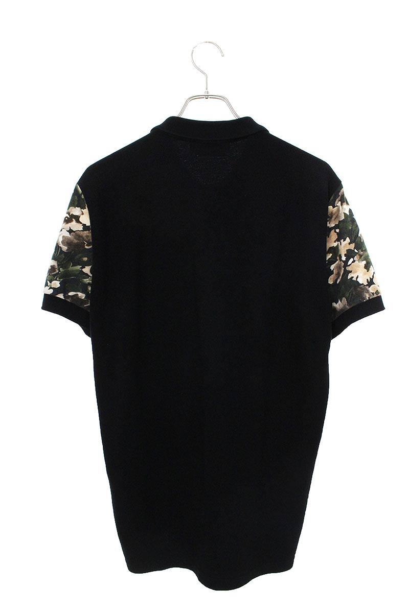 フローラルデザイン総柄半袖ポロシャツ