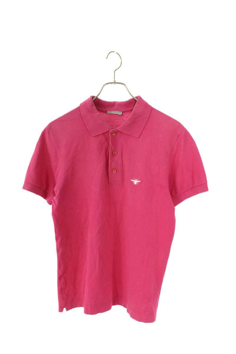 BEE刺繍半袖ポロシャツ