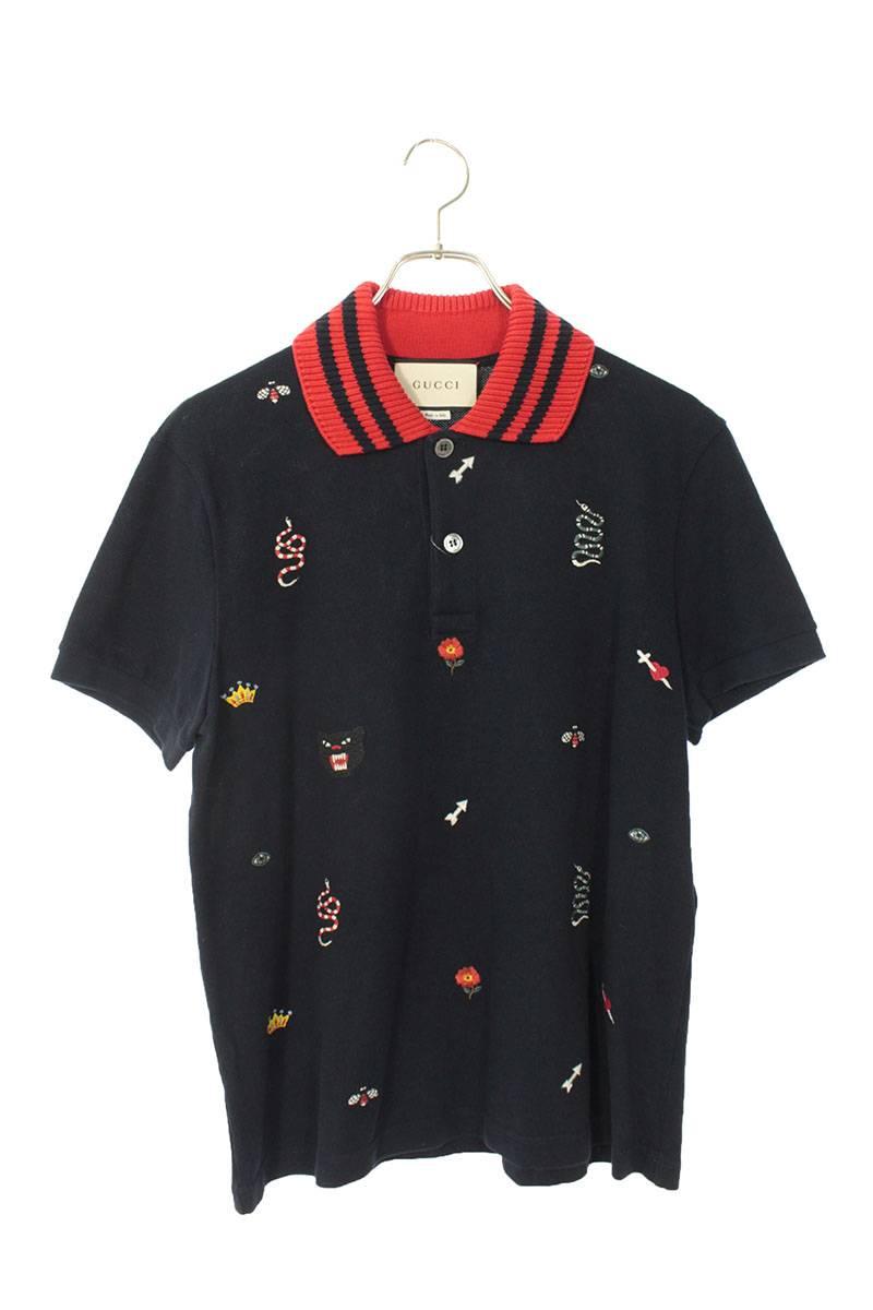 マルチワッペン半袖ポロシャツ