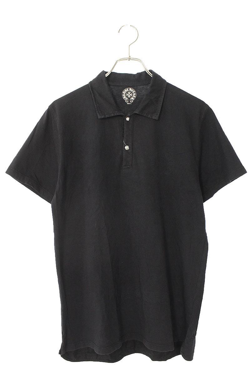 クロスボタン半袖ポロシャツ