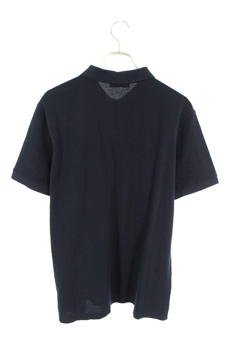 三角パッチロゴ鹿の子半袖ポロシャツ