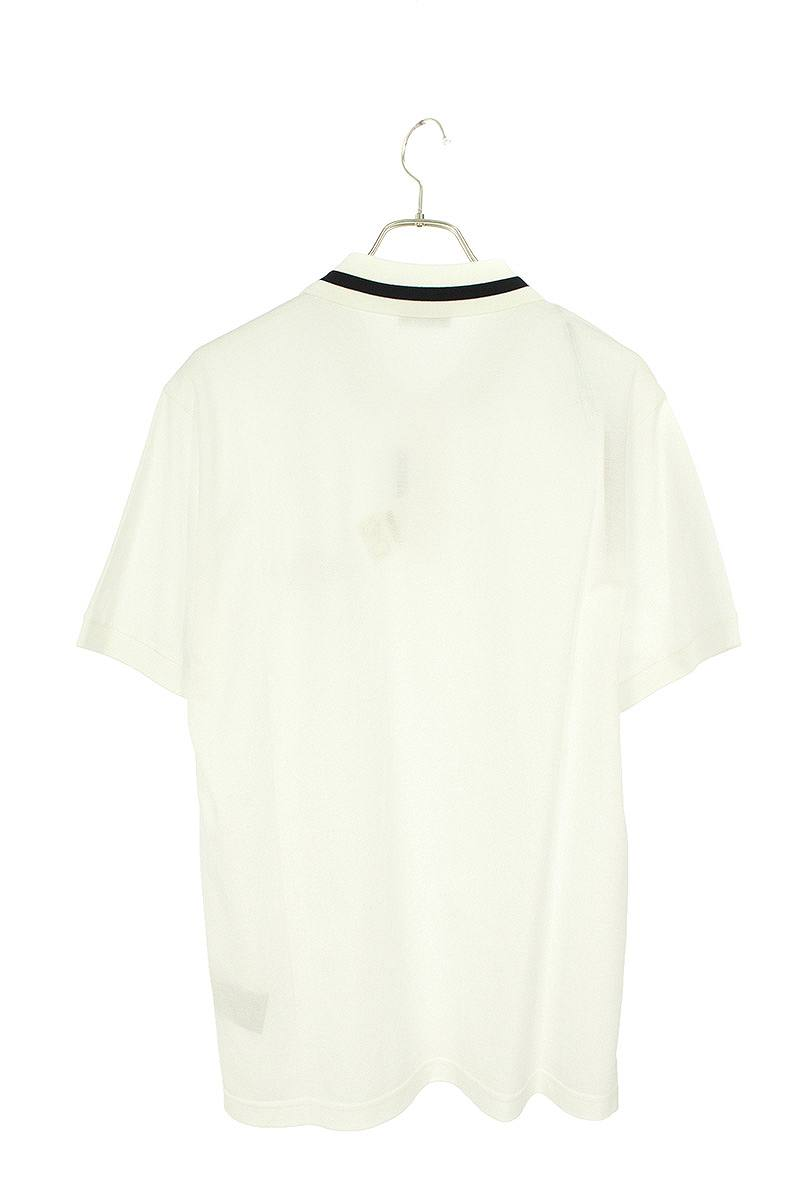 ロゴ刺繍半袖ポロシャツ