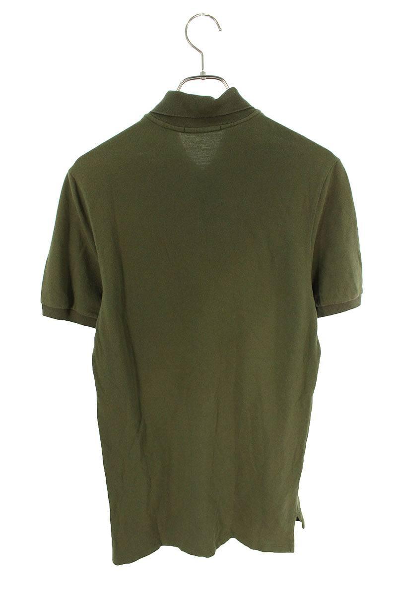 ロゴプリント鹿の子半袖ポロシャツ