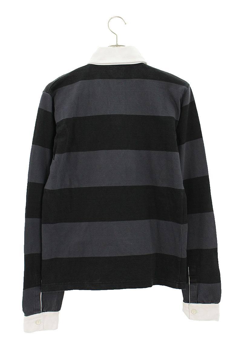BEE刺繍ボーダーラガーシャツ