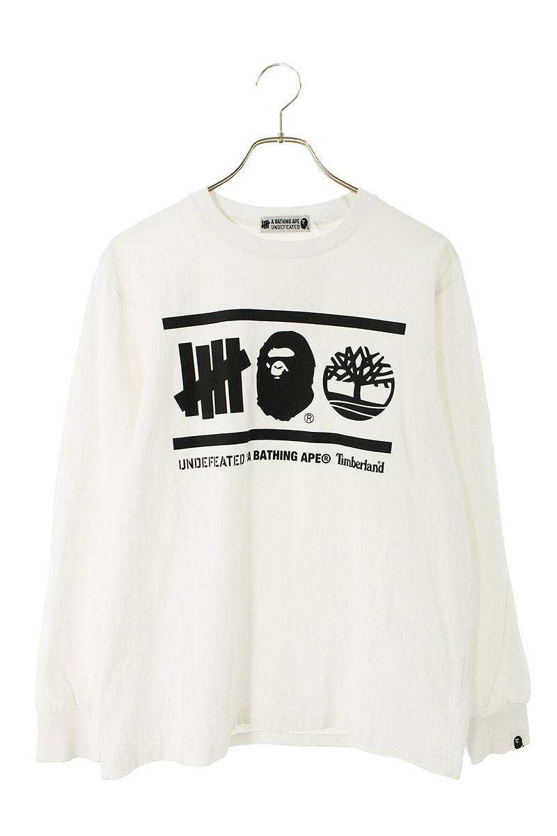 ×UNDEFEATED ロゴプリント長袖カットソー