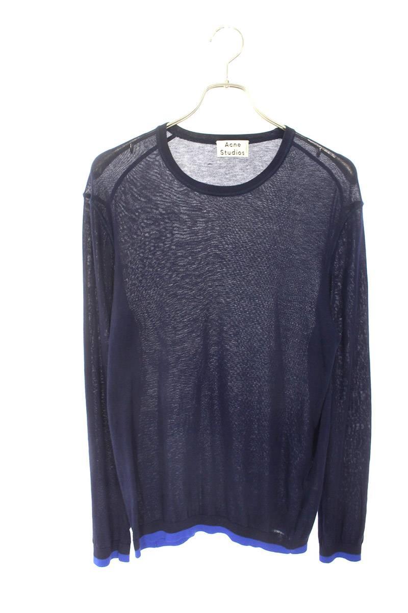 裾リブニット長袖カットソー