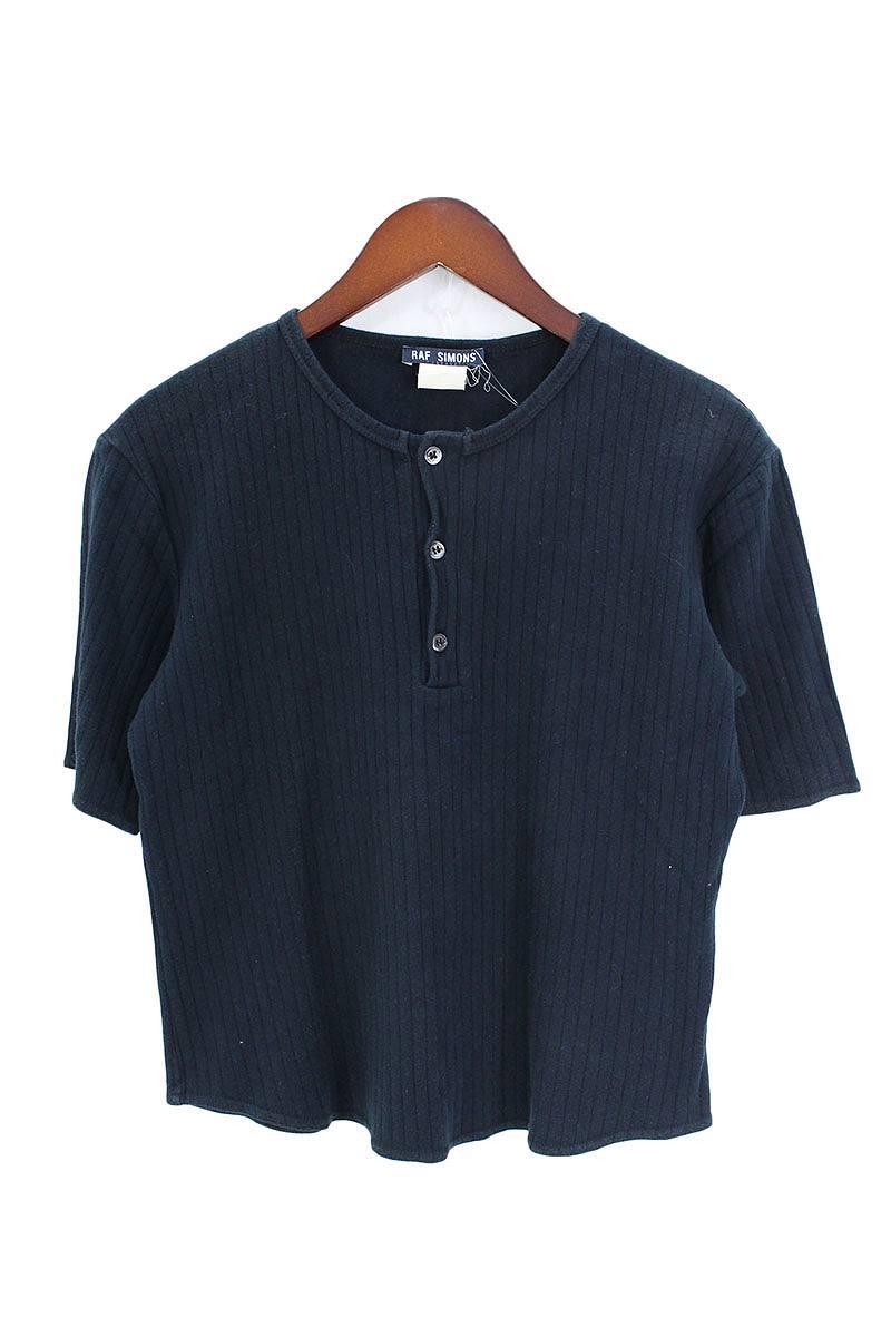 ヘンリーネックリブTシャツ