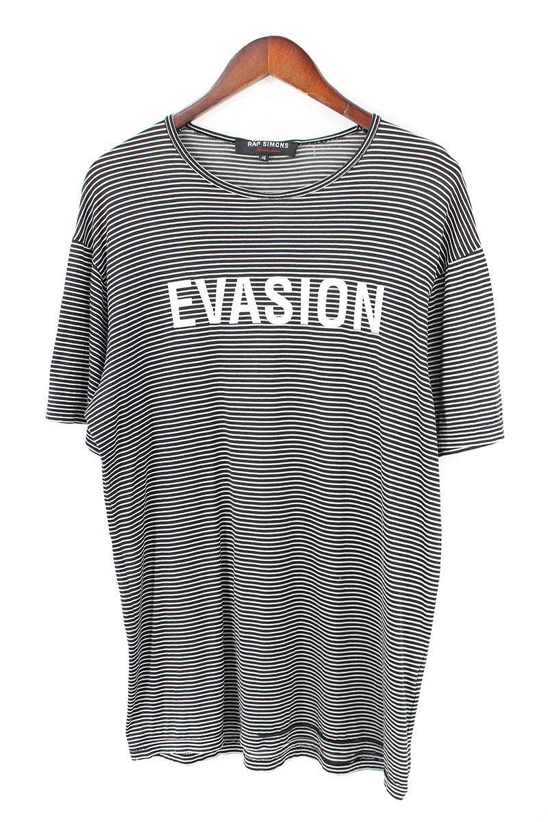 EVASIONプリントボーダーTシャツ