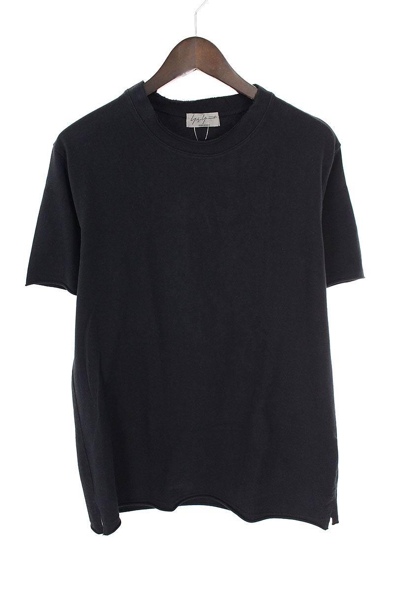 切りっ放しクルーネックTシャツ