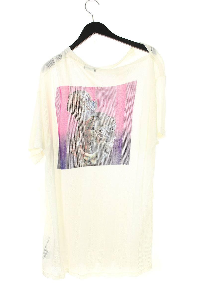 メッシュストライプスカルプチャーTシャツ