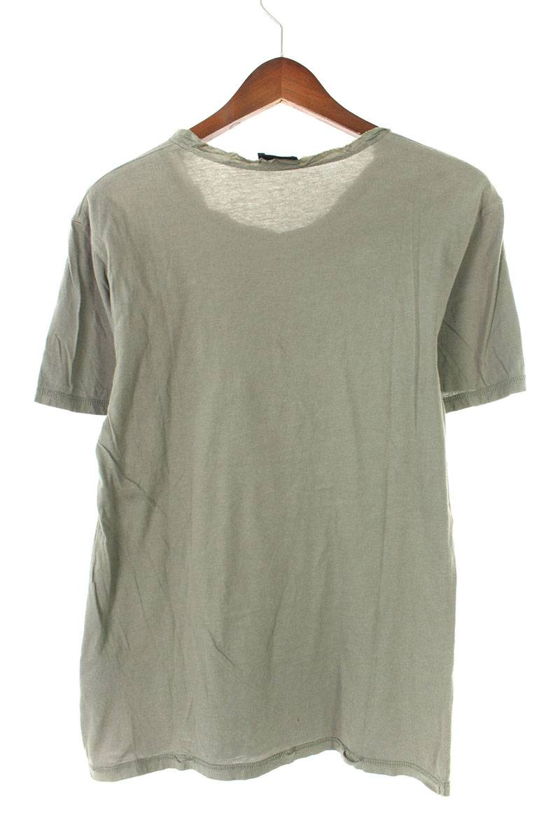 ネックシルク切替Tシャツ