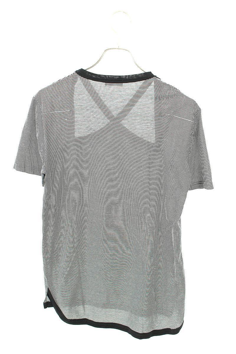 フロントクロス ボーダー柄Tシャツ