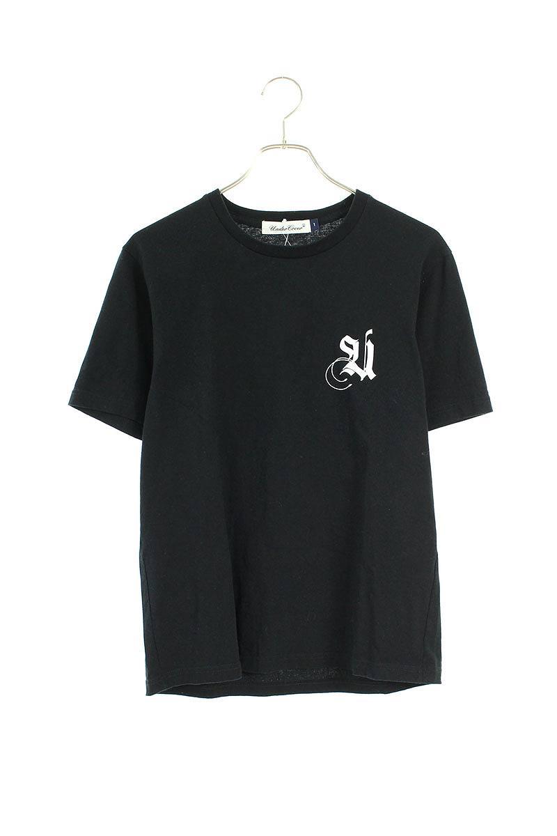 バック英字プリントTシャツ