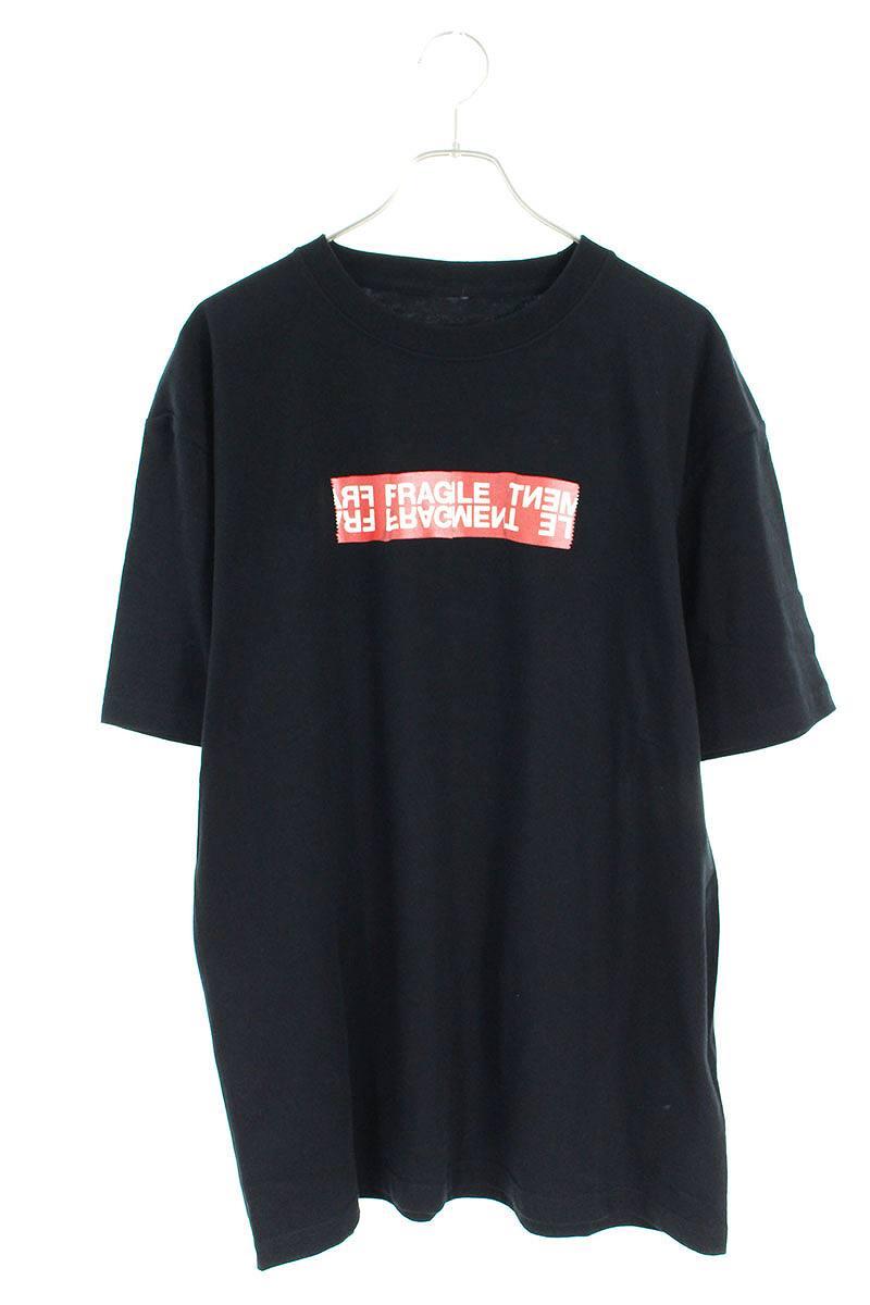 ボックステープラベルロゴTシャツ
