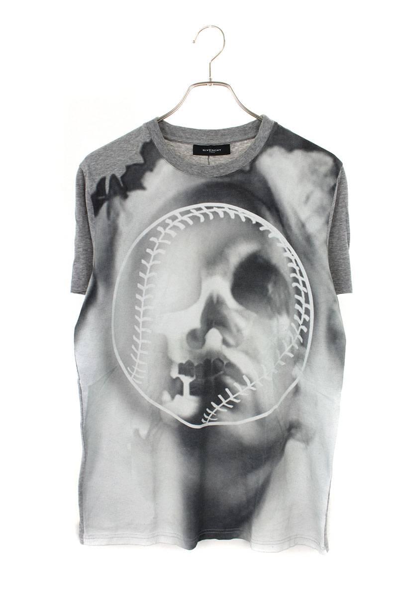 スカル転写Tシャツ