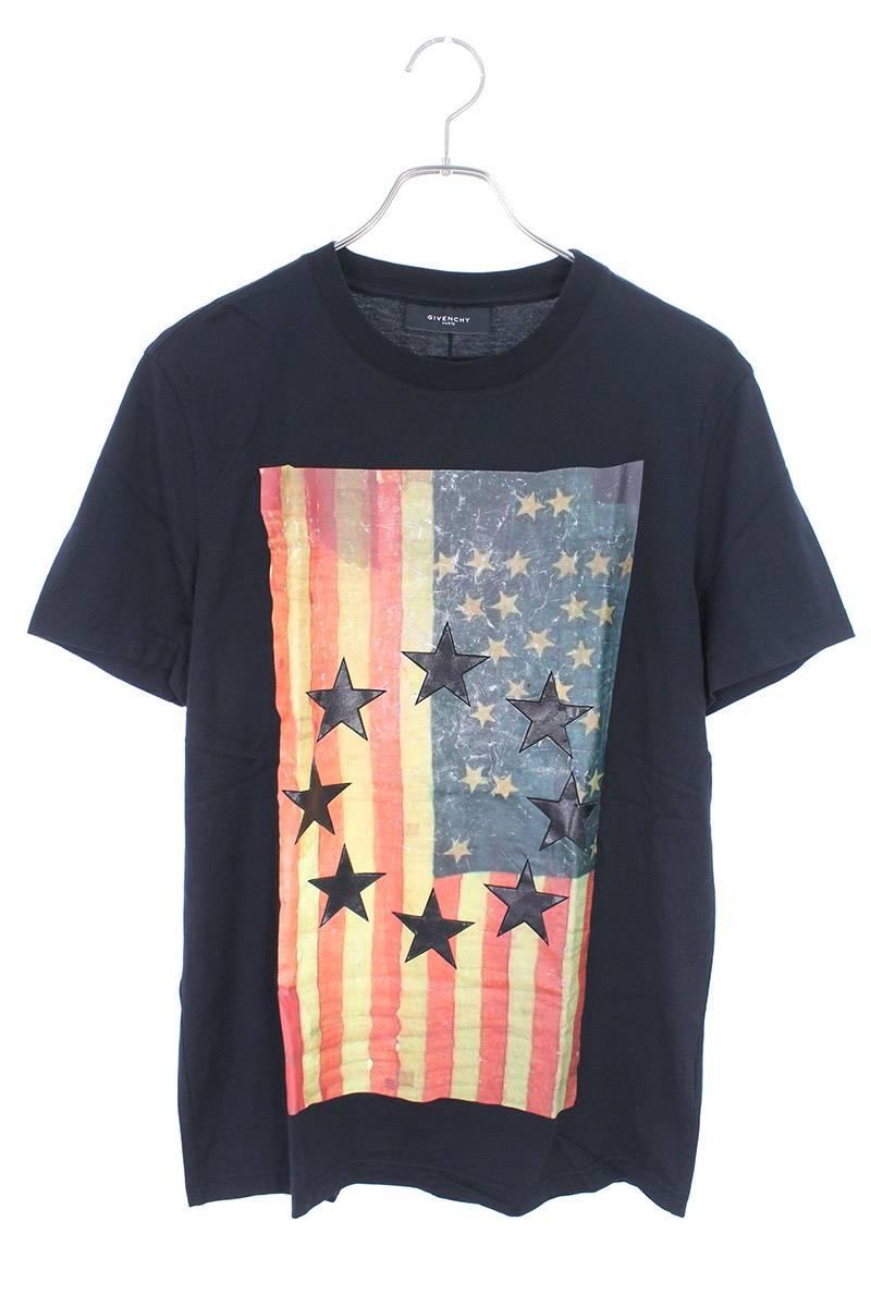 アメリカフラッグスターデザインTシャツ