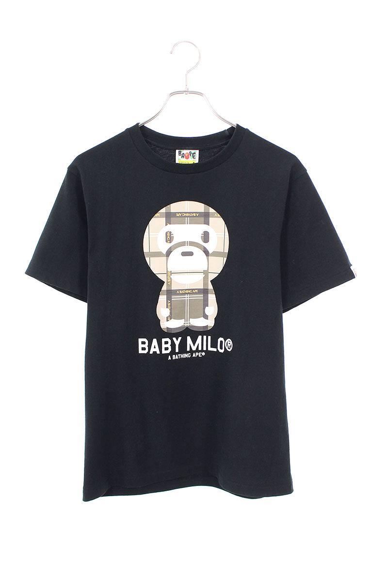 チェックマイロプリントTシャツ