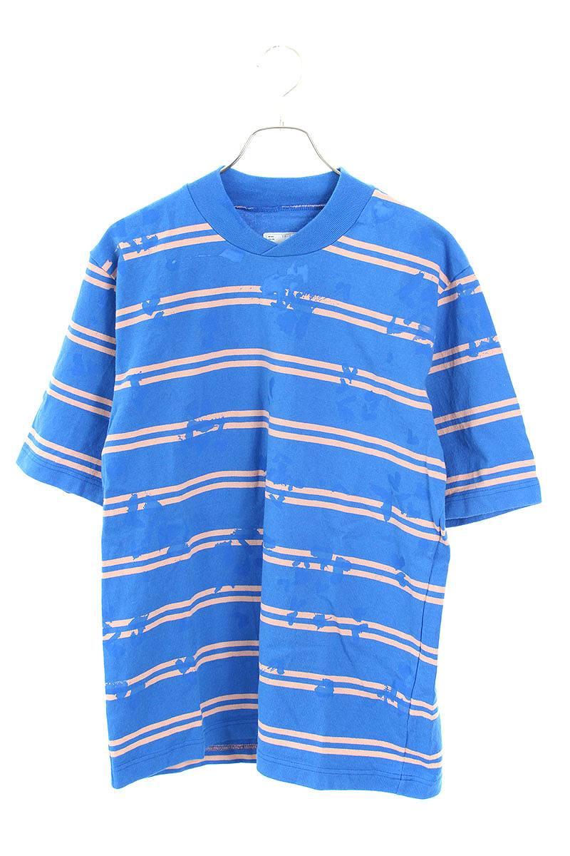 ペンキ加工ボーダーTシャツ