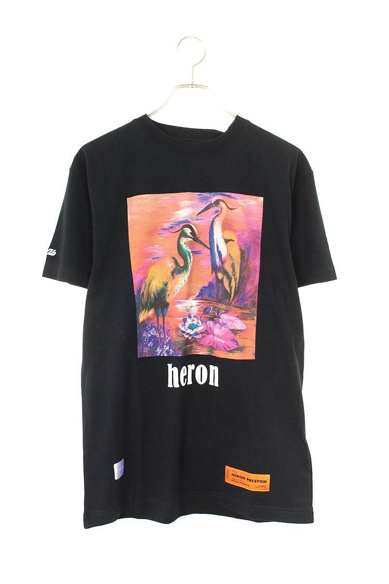 バードプリントTシャツ