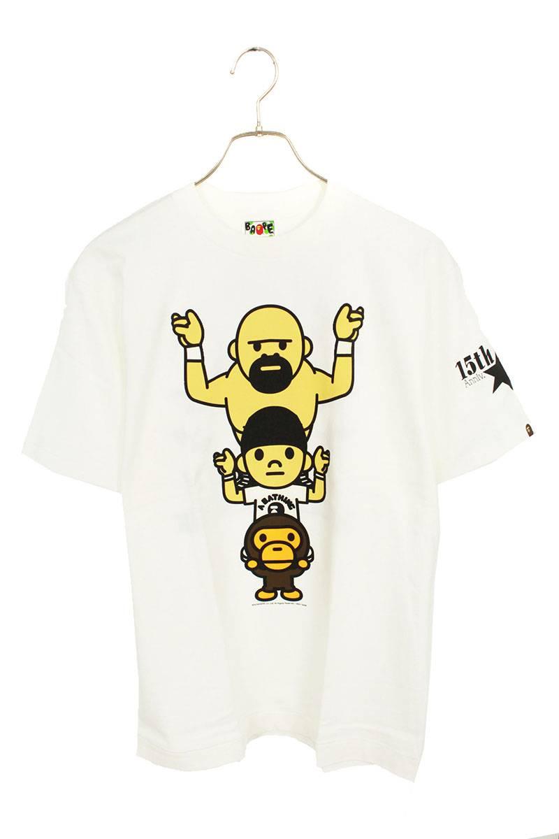 NFS限定15周年記念エイプヘッドマイロプリントTシャツ