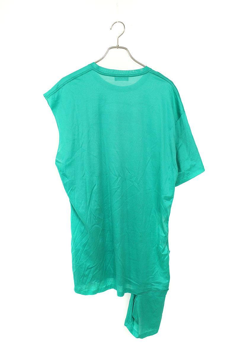 フロントプリントアシンメトリーTシャツ