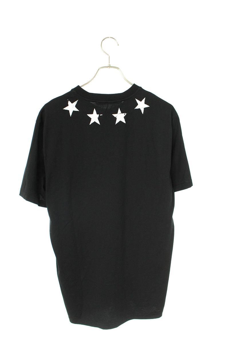 擦れ加工ビンテージスタープリントTシャツ
