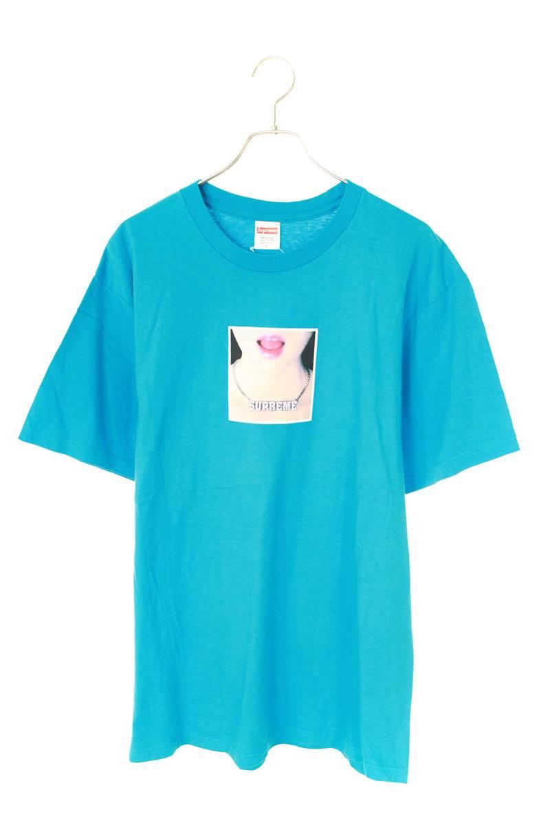 ネックレスガールプリントTシャツ