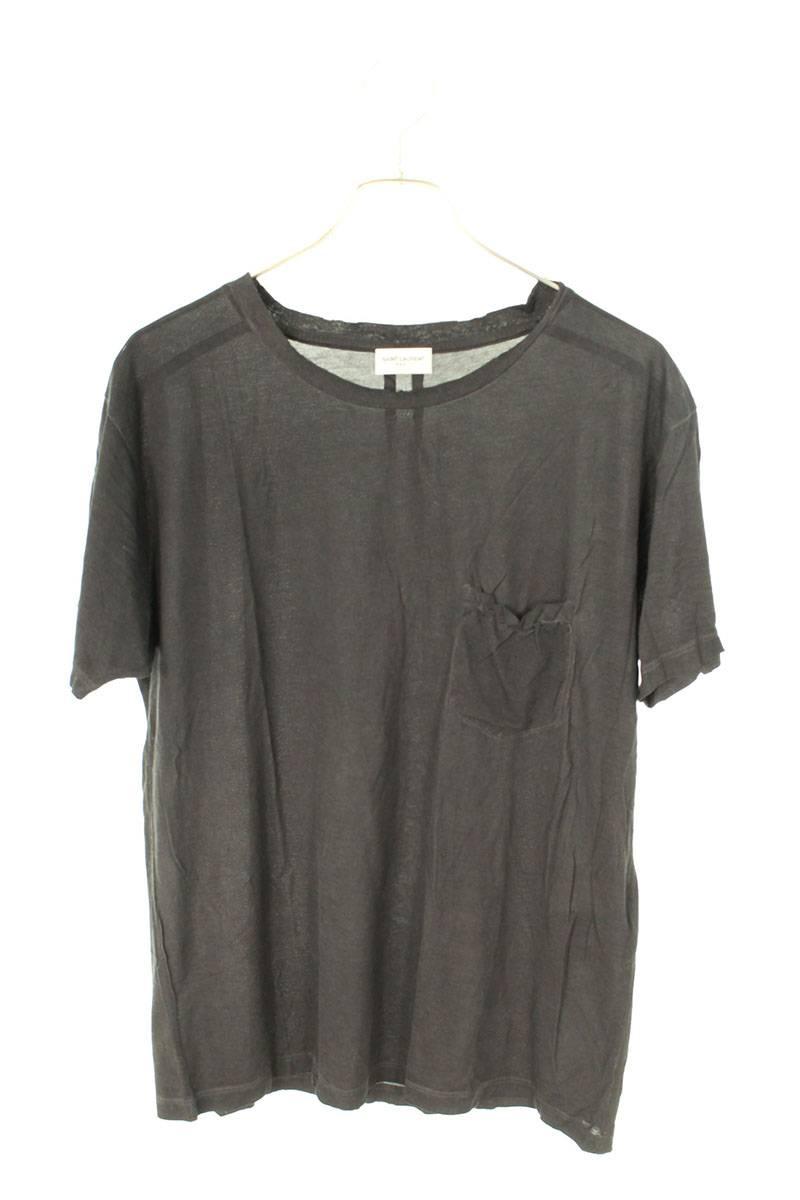胸ポケットデストロイ加工Tシャツ