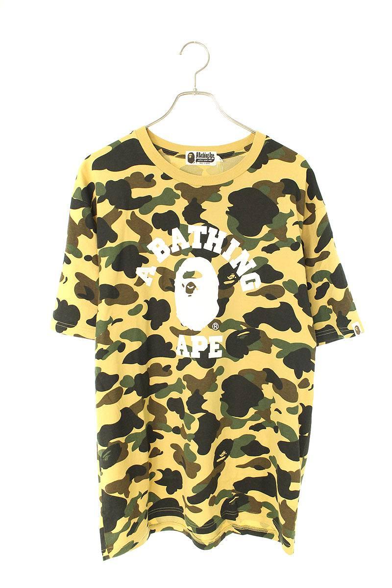 フロントプリントカモ柄Tシャツ