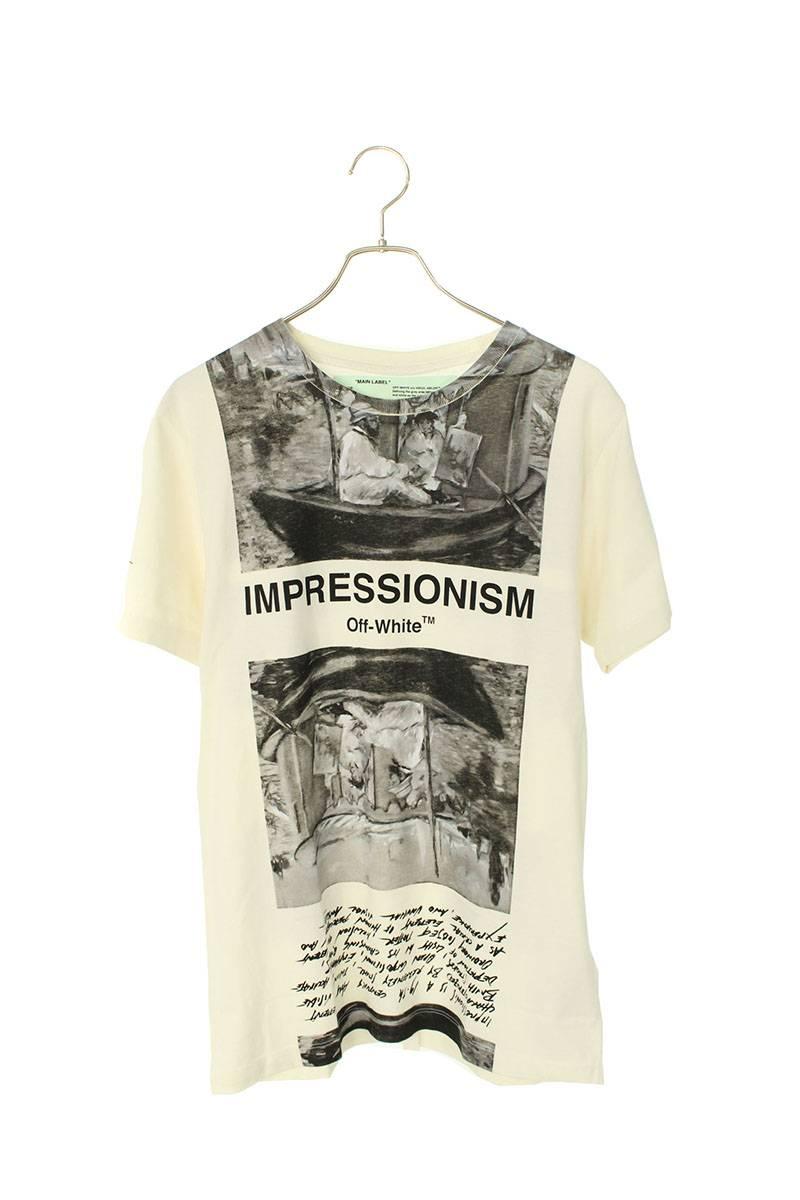 ニュースペーパーバックアロープリントTシャツ