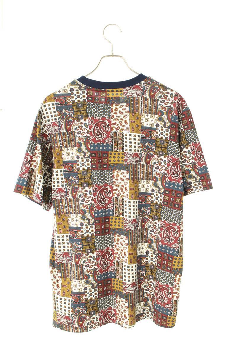 パッチワークペイズリー柄Tシャツ