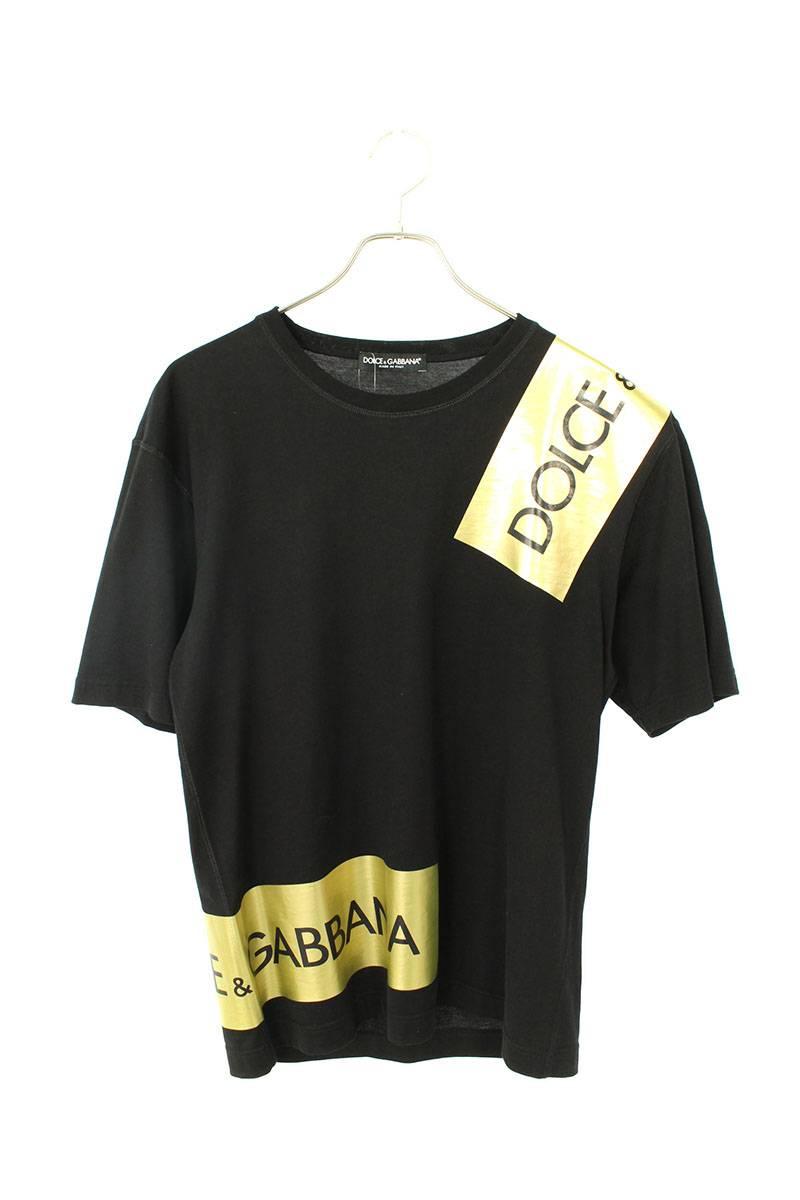 ロゴテーププリントTシャツ
