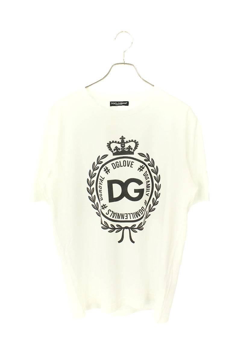 エンブレムロゴプリントTシャツ