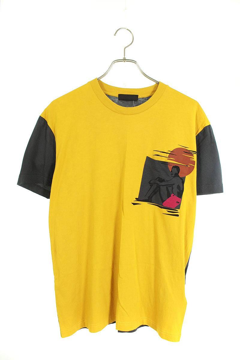サーファープリントバイカラーTシャツ