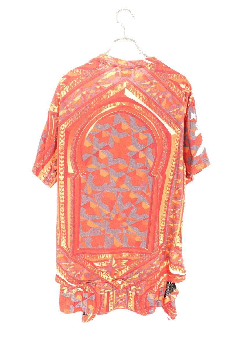 裾レイヤード総柄Tシャツ