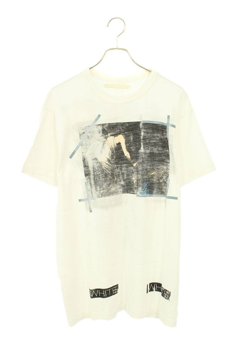 カラヴァッジオバックバイアスプリントTシャツ