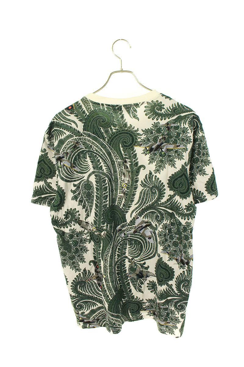 ペイズリープロペラプリントTシャツ