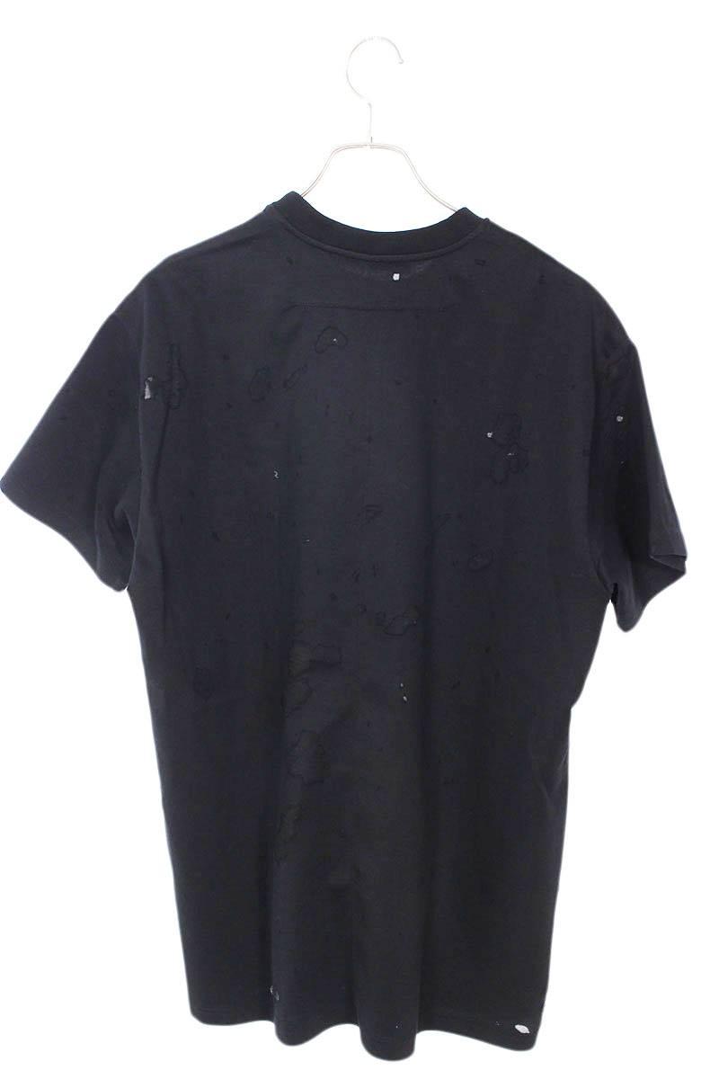 ロゴプリントデストロイクラッシュTシャツ