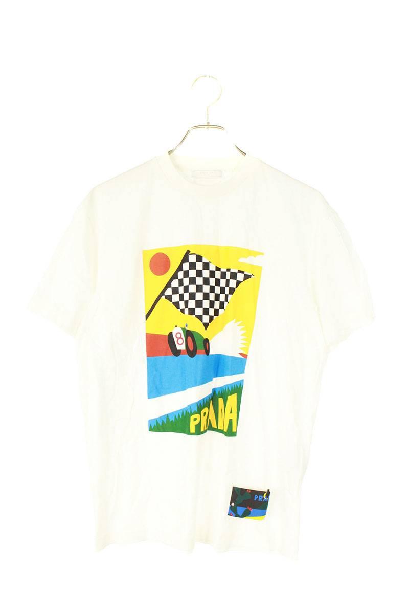 カーレースプリントTシャツ