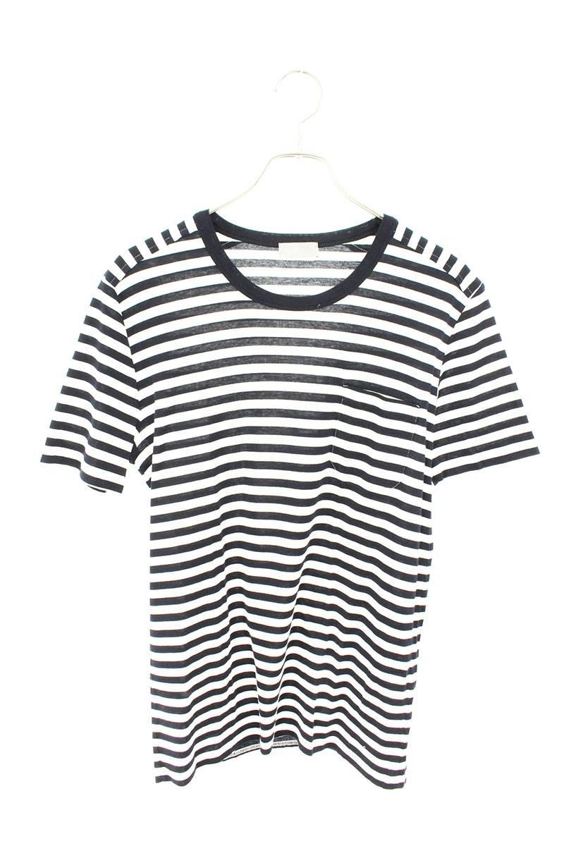 胸ポケットボーダーTシャツ