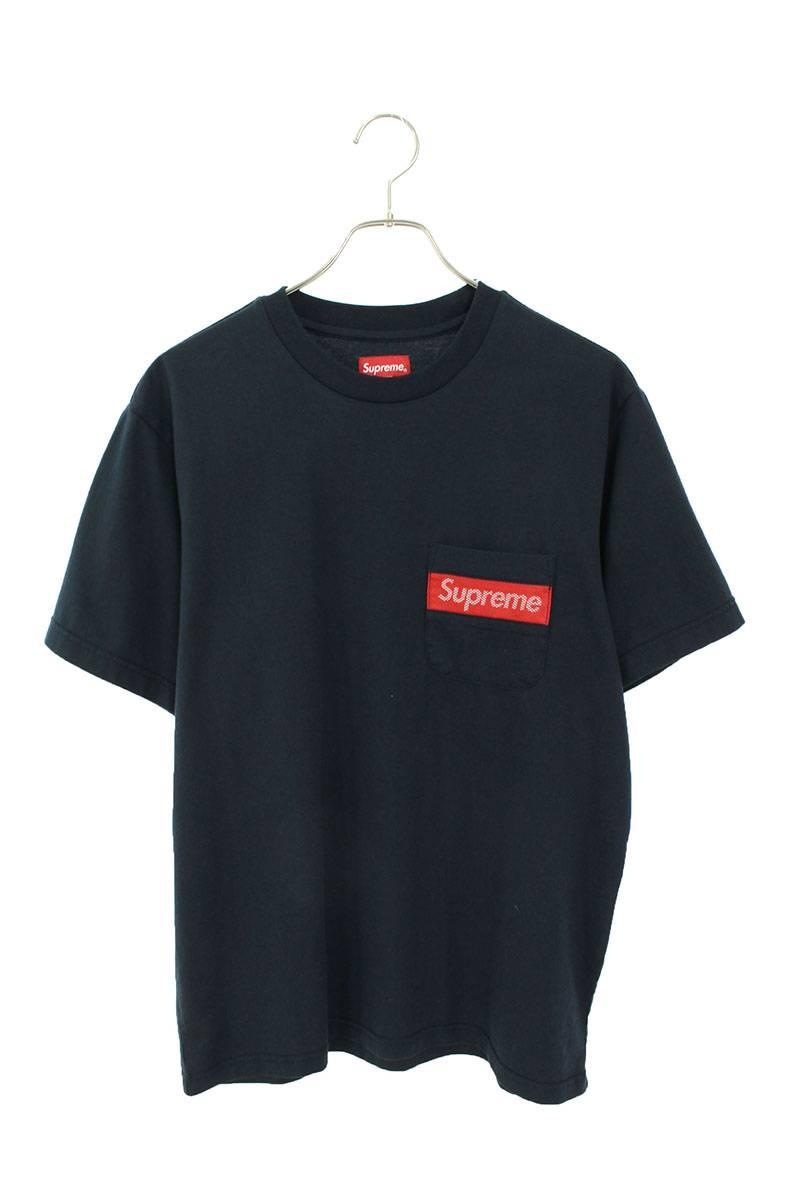 メッシュストライプポケットTシャツ