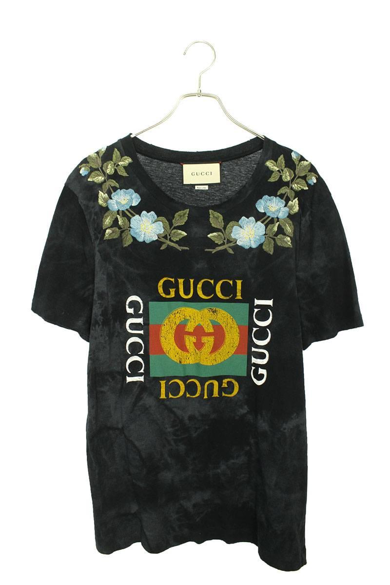 フローラルロゴプリントTシャツTシャツ