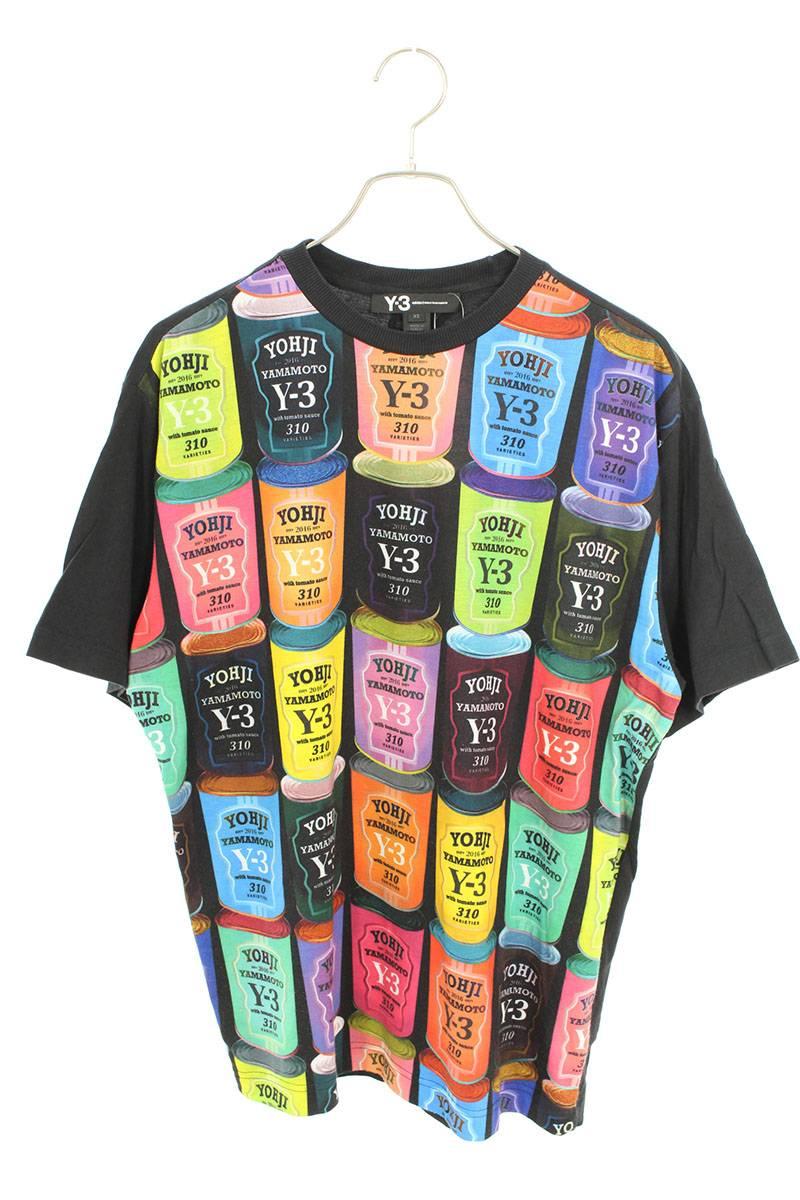 スープ缶ロゴプリントTシャツ