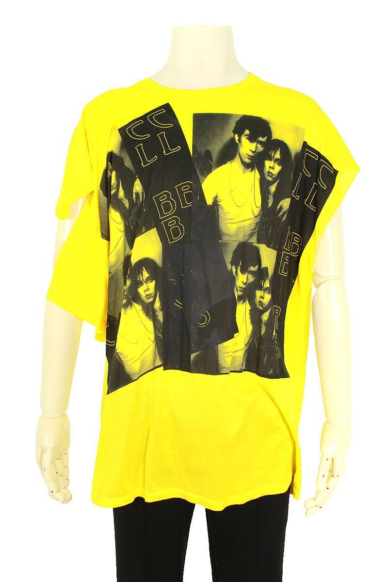 変形デザインフロントプリントTシャツ