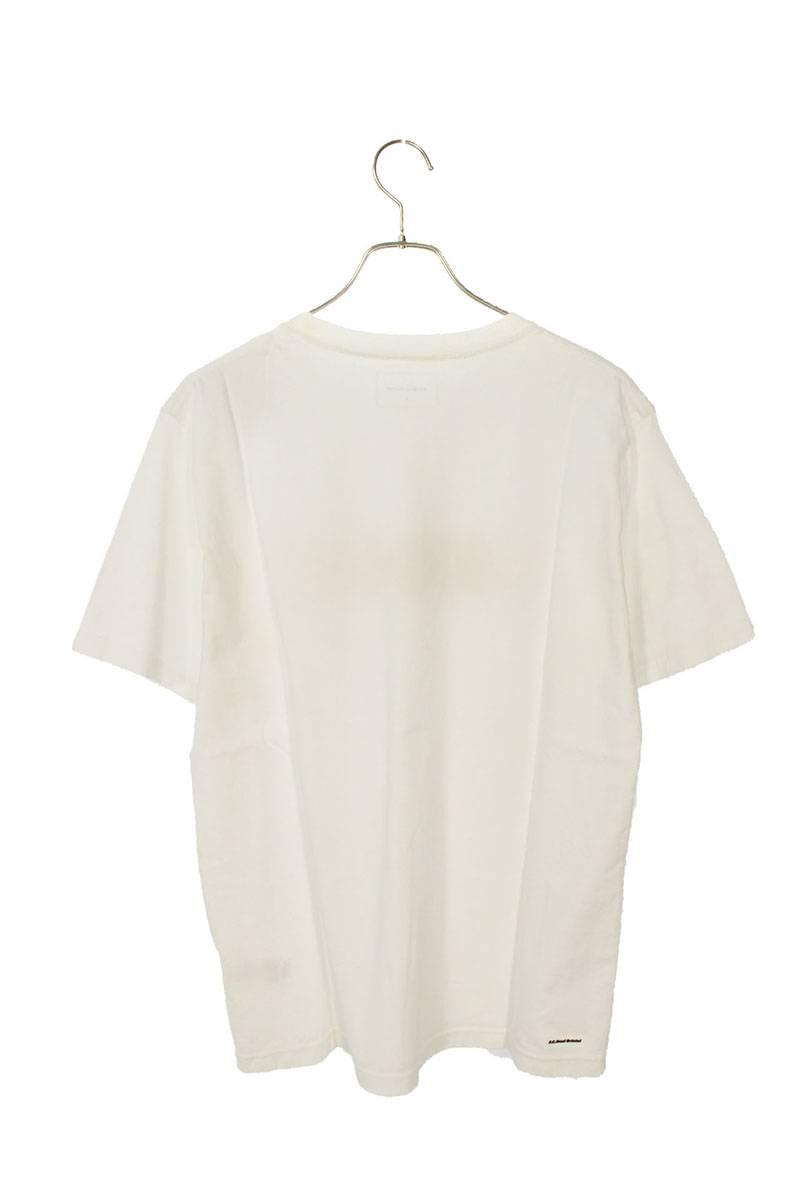 チェッカーフラッグロゴプリントTシャツ