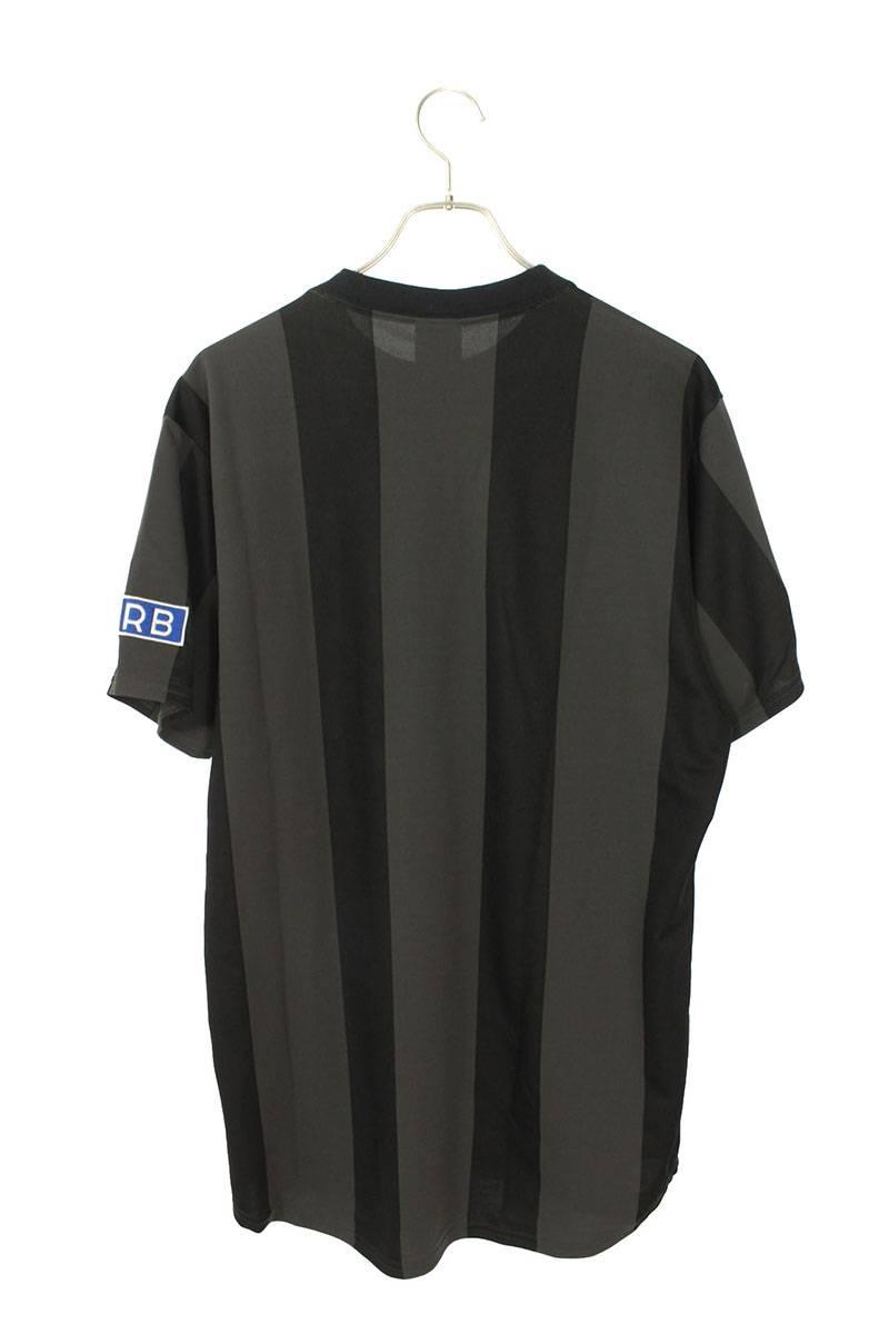 ロゴプリントストライプゲームジャージTシャツ