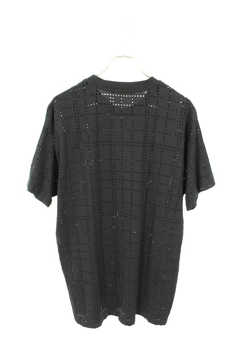 ロゴ刺繍メッシュパンチングTシャツ