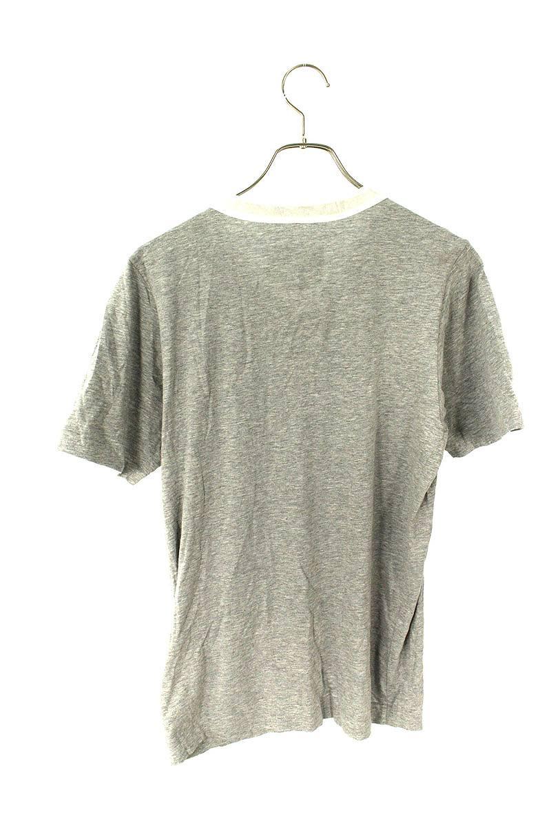 ナイロン切替VネックTシャツ