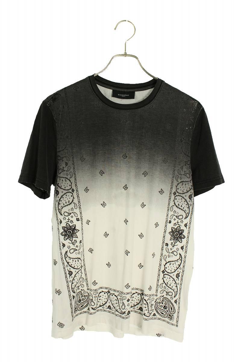 グラデーションペイズリー柄Tシャツ